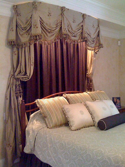 Canopy with bed pillows