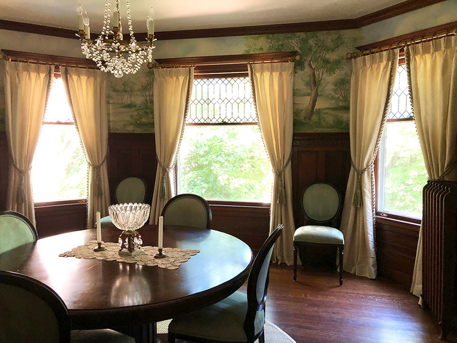 Historic dining room drapes